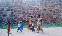 Kids getting back from school