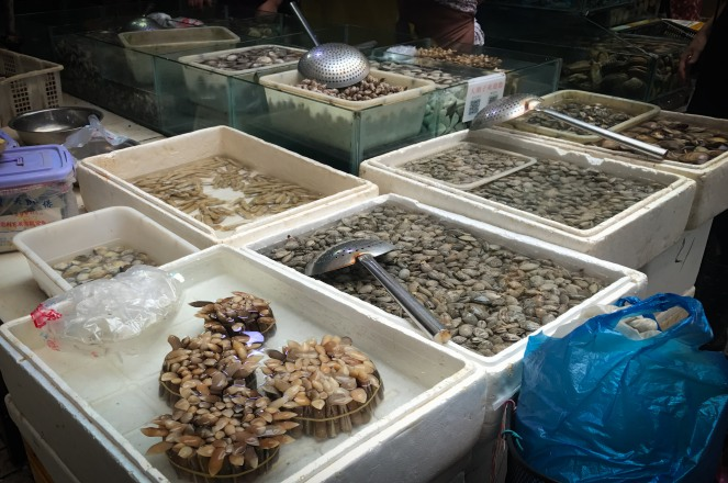China : Sea food market