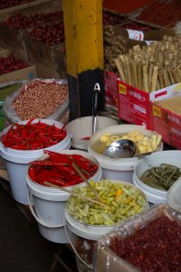All kinds of chillies