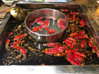 The boiling spicy hotpot